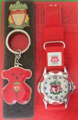 サッカー 時計,FC Liverpool リバプールの腕時計とキーホルダーのセット