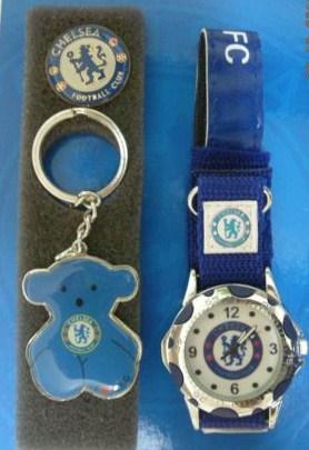 サッカー 時計,チェルシーChelseaの腕時計とキーホルダーのセット