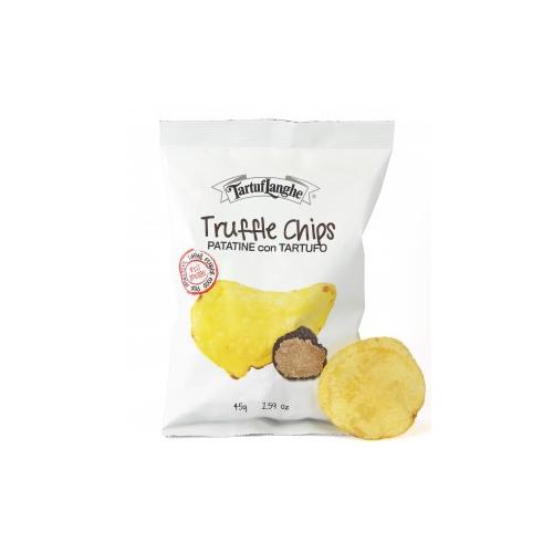 【ピエモンテ】やみつき覚悟!トリュフの香りあふれる厚切りポテトチップスです トリュフ入りポテトチップス(タルトゥフランゲ) 45gTruffle Chips Patatine con tartufo / TartufLanghe【トリュフチップス】