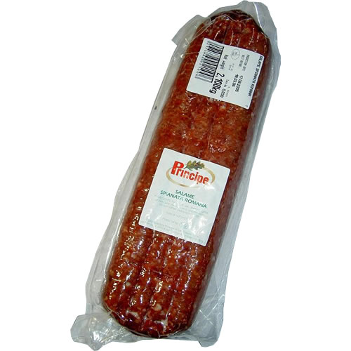 サラメ スピアナータ ロマーナ約2.5kg(プリンチペ)Salame Spianata Romana / Principe※2kg~3.5kgの物を\5,000/kgで計算の上、正確な重さと価格はあらためてご連絡させて頂きます。