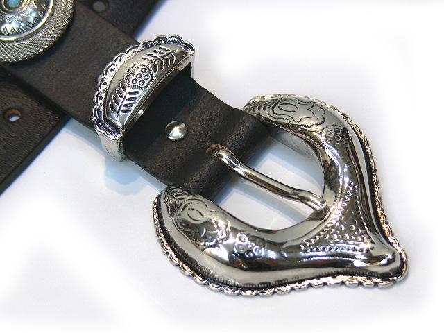 南宁南宁意大利进口钢丝网皮革 2103bkwh 皮革带古钱币 (深棕色)