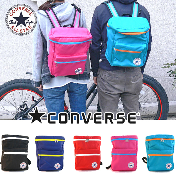 converse backpack black and pink
