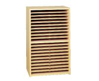 【送料別途】木製画用紙整理ケース 20段(K-20N)