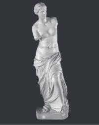 【メーカー直送】石膏像[岡石膏] ミロ ヴィナス全身像