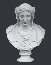【メーカー直送】石膏像[岡石膏] バチアンド胸像