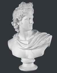 【メーカー直送】石膏像[岡石膏] アポロ胸像