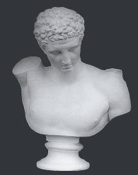 【メーカー直送】石膏像[岡石膏] ヘルメス胸像
