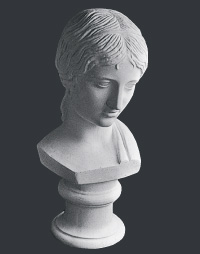 【メーカー直送】石膏像[岡石膏] ギリシャ少女胸像