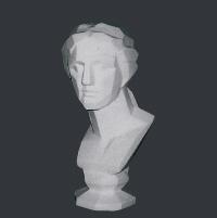 【メーカー直送】石膏像[岡石膏] ミロヴィナス胸像(面取)