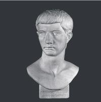 【メーカー直送】石膏像[岡石膏] 青年ブルタス胸像