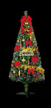 150cmファイバーツリーセット (クリスマス/クリスマス用品/クリスマスツリー/ツリー/パーティー/飾り/オーナメント/サンタ/)