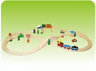 レール&トレイン(49P)(おもちゃ/ホビー/ゲーム/木のおもちゃ/汽車/くるま/人形/標識/レール/セット木製/通販)