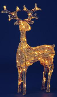 ゴールデンクロス イーティングトナカイ ゴールド【グリーンコード】(クリスマス/クリスマス用品/クリスマスツリー/ツリー/パーティー/飾り/オーナメント/トナカイ)