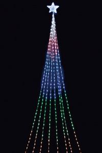 LEDドレープライト(レインボー)(クリスマス/クリスマス用品/クリスマスツリー/ツリー/パーティー/飾り/オーナメント/ライト/電飾/電球)