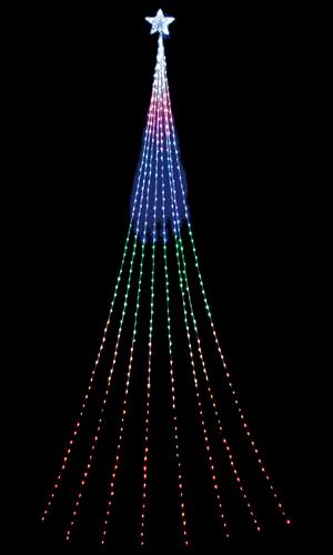 LEDロングドレープライト(レインボー)(クリスマス/クリスマス用品/クリスマスツリー/ツリー/パーティー/飾り/オーナメント/ライト/電飾/電球)