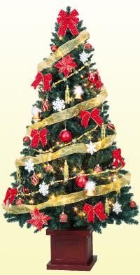 150cmラグジュアリーツリーセット【150cm】(クリスマス/クリスマス用品/クリスマスツリー/ツリー/パーティー/飾り/オーナメント/セット)