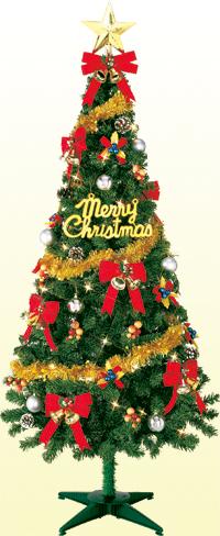 150cmフェアリーフォレストツリーセット【150cm】(クリスマス/クリスマス用品/クリスマスツリー/ツリー/パーティー/飾り/オーナメント/セット)