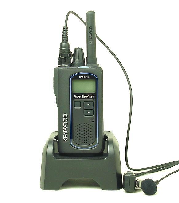 ケンウッド TPZ-D510 デジタルハイパワートランシーバー(登録局)と高性能イヤホンマイクのお得なセット (送料無料)