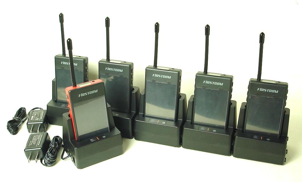 (5組セット)ガイディング送信機x1台と受信機x5台のお得なセット(ガイドラジオ) (送料・代引手数料無料)