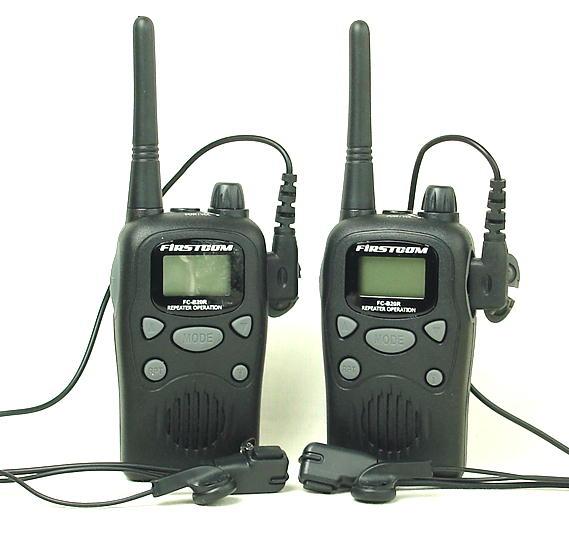 インカム (送料・代引手数料無料)お得な 中継通話対応47ch特定小電力トランシーバー(インカム)ファーストコムFC-B20R&イヤホンマイクのインカム2台セット