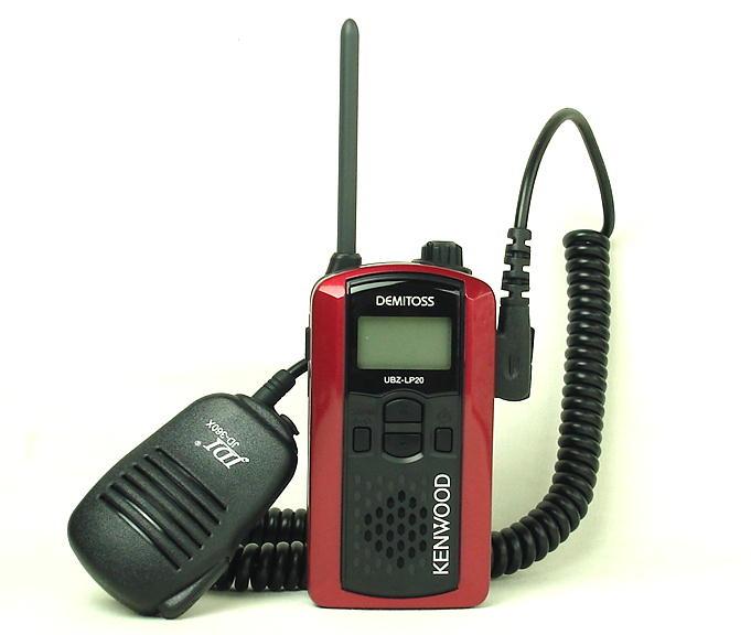 ケンウッドインカム/特定小電力トランシーバー(インカム)UBZ-LP20(レッド)と高性能スピーカーマイクのお得なセット (免許不要)(送料無料