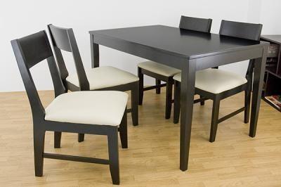 【北欧風】 ダイニングテーブル(120幅)  チェア(4脚入) ダークブラウン/ナチュラル