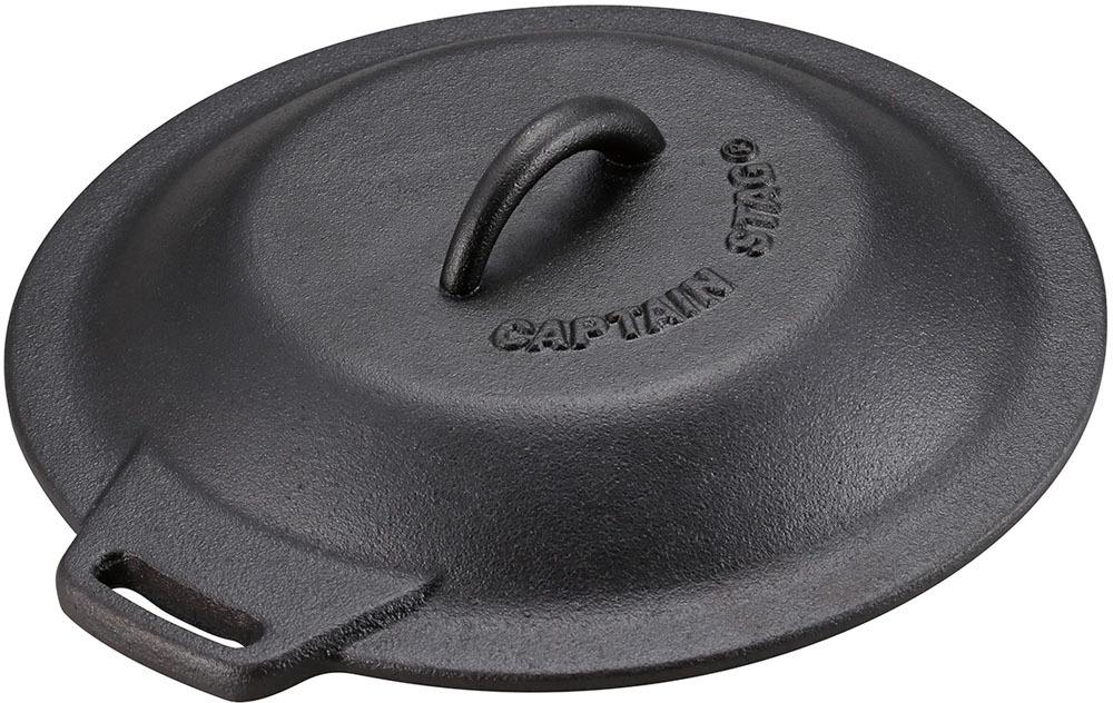 ダッチオーブン スモーカーアクセサリー アウトドア用品 10%OFF P5倍 クーポン有 スキレットカバー 25cm 品質検査済 キャプテンスタッグ CAPTAIN 蓋 キャンプ オーブン可 黒 鋳鉄 ふた いつでも送料無料 アウトドア ブラック STAG