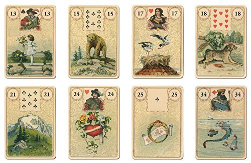 (gold decoration) Lenormand card fortune-telling with the Golden Lenormand  Oracle Japanese commentary book