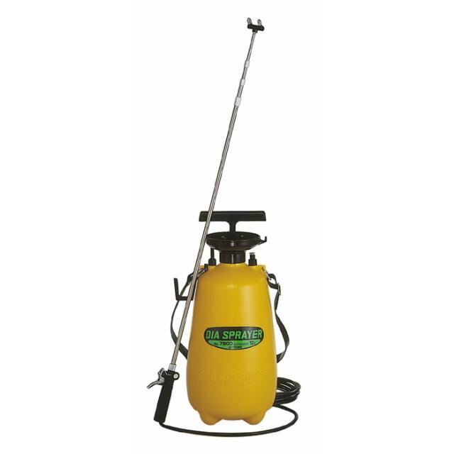 ダイヤスプレー プレッシャー式噴霧器 12L用 2頭式伸縮ノズル付:No.7800 <フルプラ>
