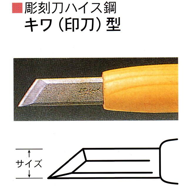 三木章刃物本舗 彫刻刀ハイス鋼 キワ 店 印刀 型 送料無料/新品 3mm 1.5mm 4.5mm 6mm