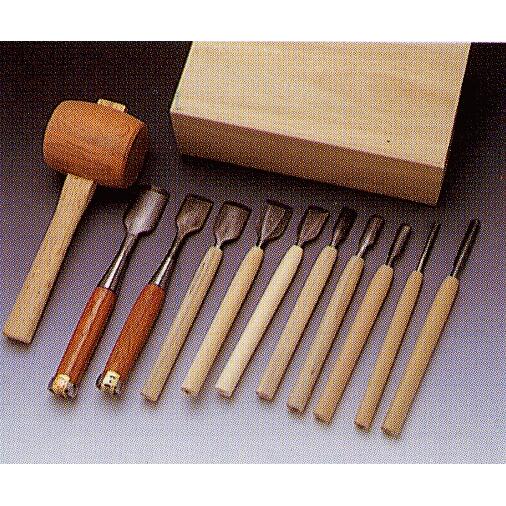 三木章刃物本舗 「NHK木彫入門」たたきのみセット 140432