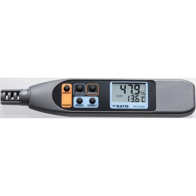 デジタル温湿度計 PC-5120:No.8070-20<佐藤計量器>