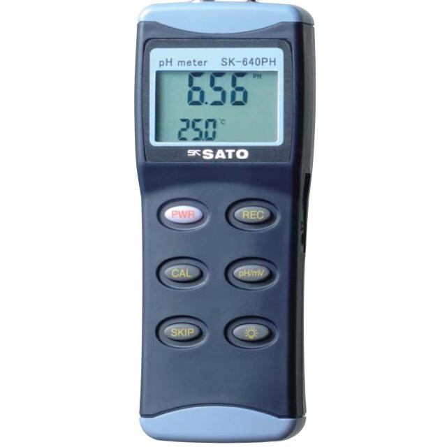 ハンディ型pH計 SK-640PH(指示計のみ);No.6423-00<佐藤計量器>