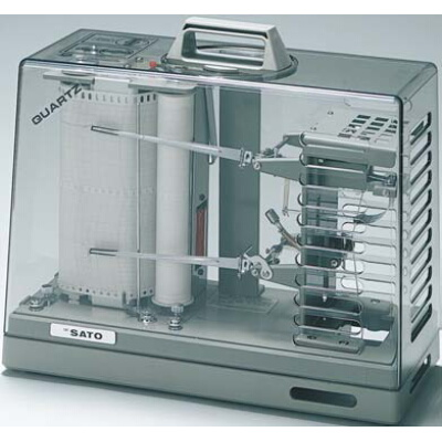 クオーツ式 オーロラ90-3型温湿度記録計(1ヶ月間用):No.7012-20<佐藤計量器>