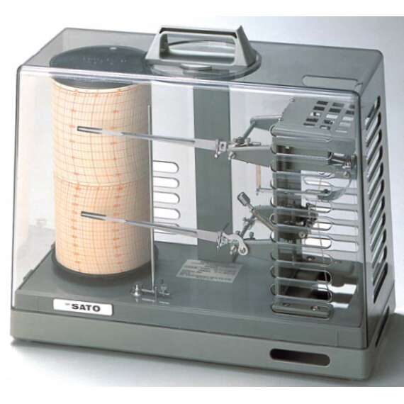 クォーツ式 シグマ2型温湿度記録計;No.7210-00<佐藤計量器>
