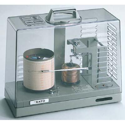 クォーツ式 シグマ2型気圧記録計:No.7237-00<佐藤計量器>