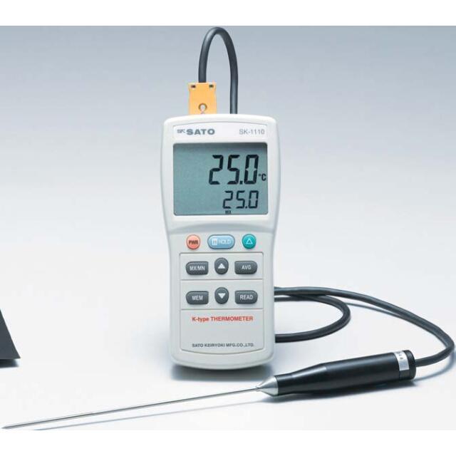デジタル温度計 SK-1110(指示計のみ):No.8014-03<佐藤計量器>