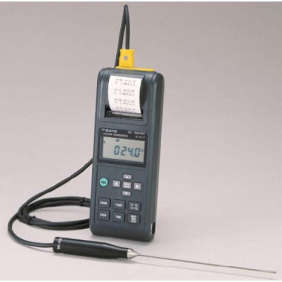 プリンタ付デジタル温度計 SK-7000PRT2(指示計のみ):No.8250-30<佐藤計量器>