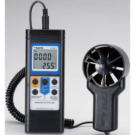 ベーン式風速計 SK-93F2:No.7687-10<佐藤計量器>