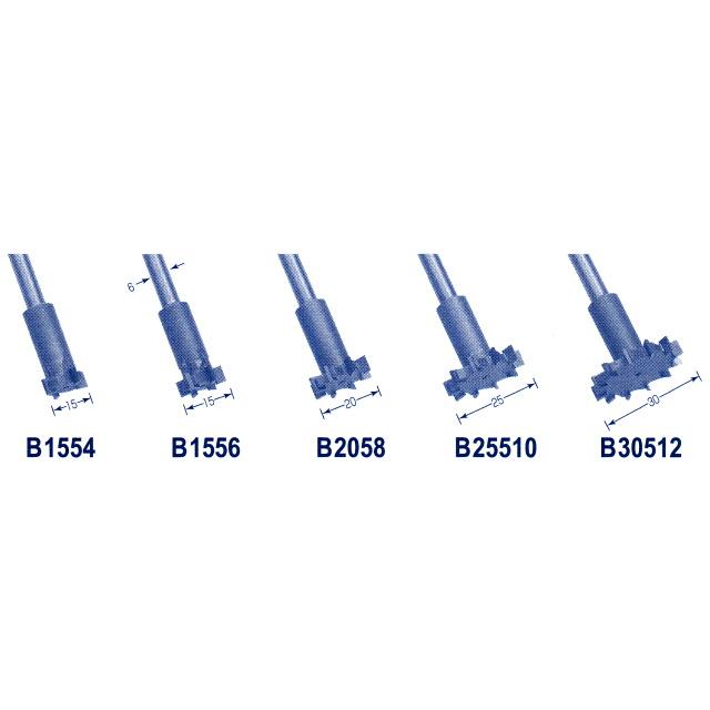 東京オートマック 木彫機 回転工具用 盆栽用ビッグボーンカッター 5mm刃厚の5本組 #29500<AUTOMACH>