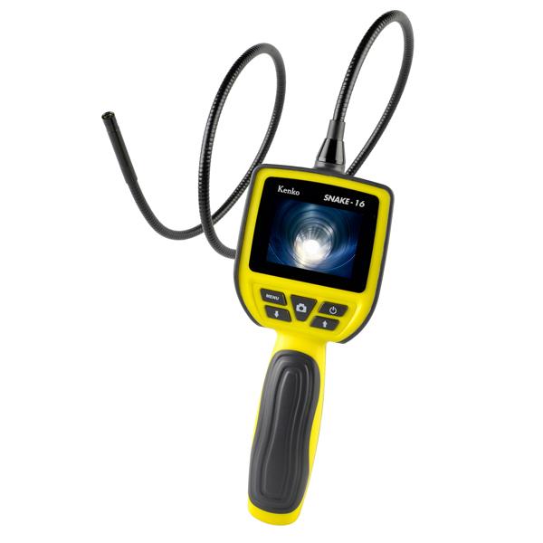 ケンコー・トキナー LEDライト付き防水スネイクカメラ SNAKE-16 録画 撮影 防塵 防水 水回り エンジン下