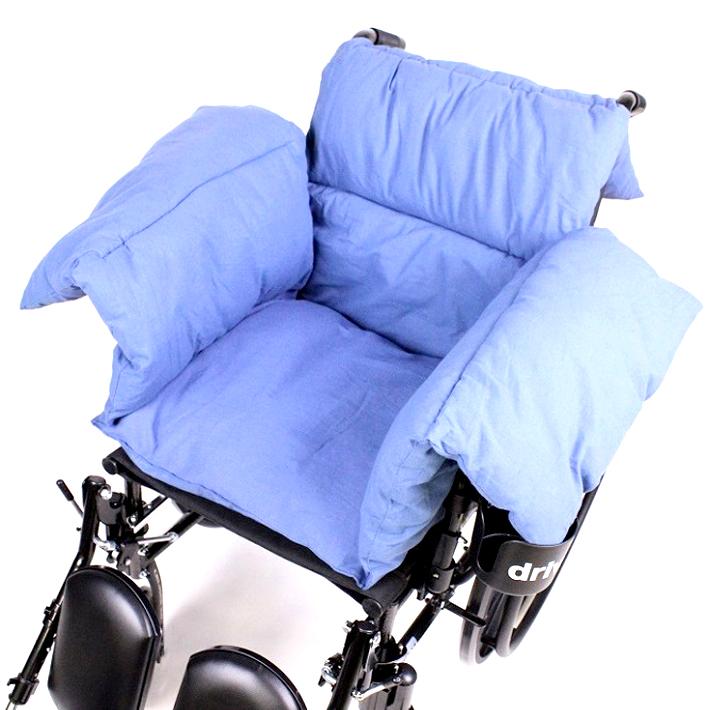 車いす 車椅子 クッション 背もたれ 洗濯可能 介護 介助車 クッション ブルー RT-CU009 ムークッション