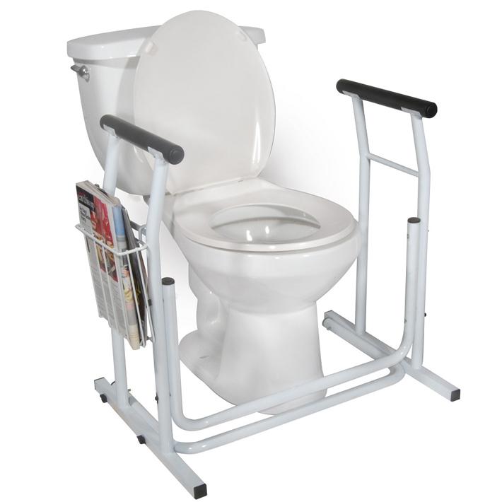 トイレ用 手すり RTL12079 介護 高齢者 転倒防止 洋式トイレ 持ち手 マガジンラック付 組み立て