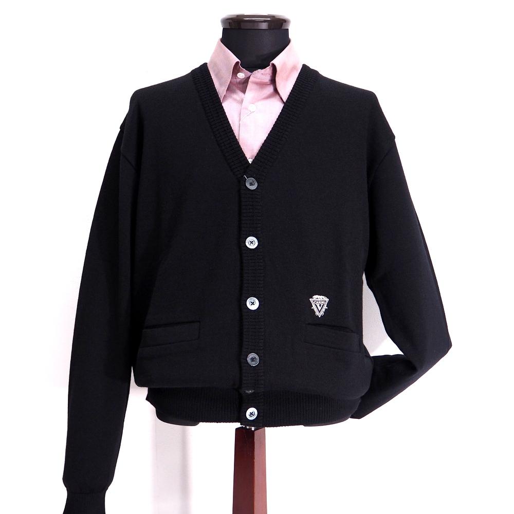 【あす楽対応】 秋冬 日本製 ウールカーディガン ブラック(黒) サイズ 【46(M) 48(L) 50(LL)】 Vittorio Carini 紳士服 メンズ 男性用