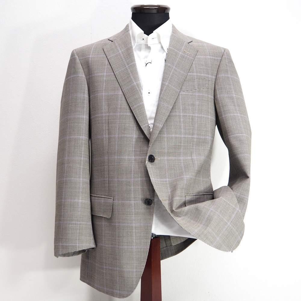 ロンナー シングル テーラードジャケット 2つボタン メンズ カジュアル 男性 ブラウン AB4/AB6/BE5/BE6 サイズ 春夏 日本製 紳士 ファッション