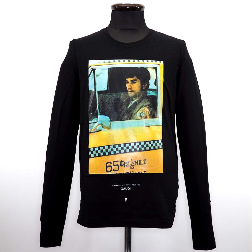 ガウディ 長袖 至上 Tシャツ インポート クルーネック メンズ カジュアル 男性 サイズ 紳士 L ファッション 秋冬 2020 新作 ブラック S ティーシャツ