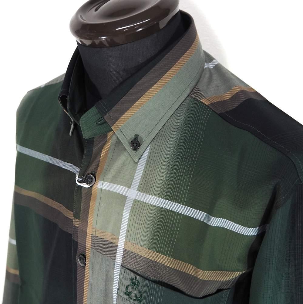 更に値下げしました ジーゲラン ボタンダウンシャツ 長袖 2020 新作 インポート生地 メンズ カジュアル 男性 グリーン L 秋冬 紳士 贈答品 サイズ LL 日本製 ファッション M