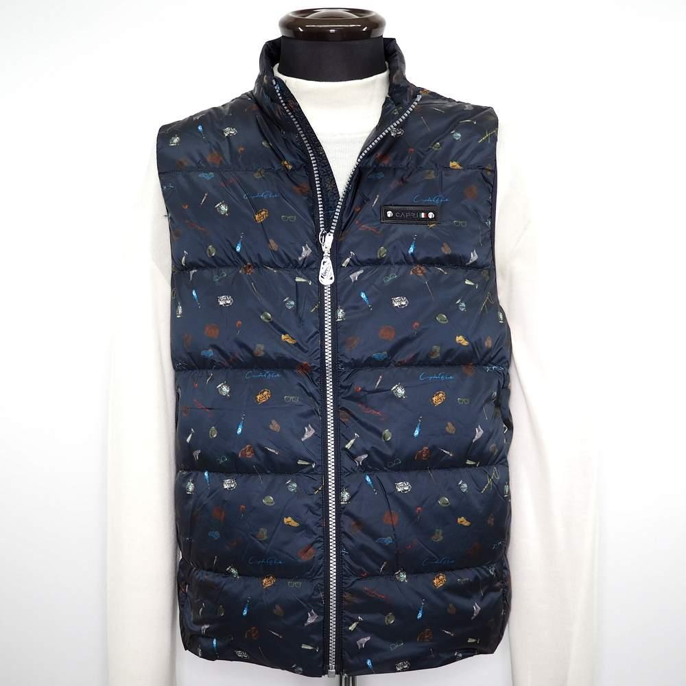 更に値下げしました 出荷 選択 カプリ ダウンベスト メンズ カジュアル 男性 ネイビー M L ファッション サイズ 秋冬 3L LL 紳士