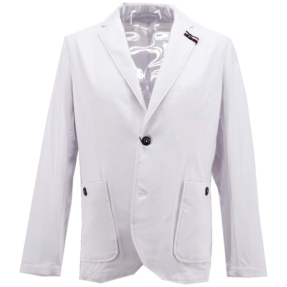 カプリ ジャケット シングル ストレッチ 100%品質保証! メンズ カジュアル 男性 ホワイト 春夏 奉呈 ファッション L 紳士 サイズ M