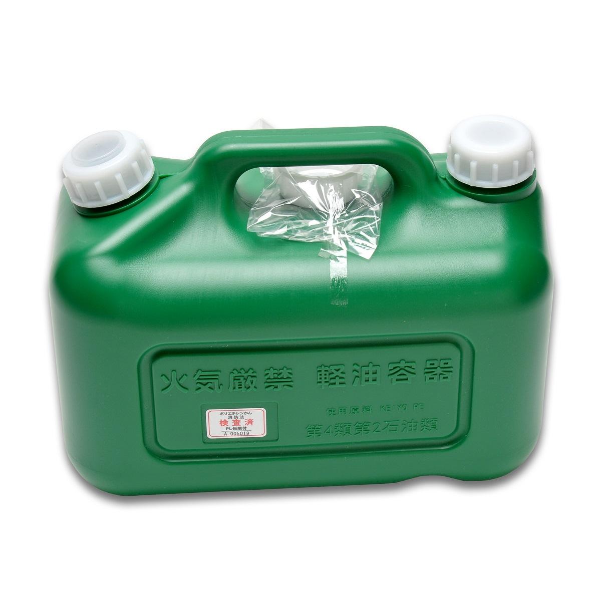消防法の検査に適合した軽油缶です 1~4個まで1個口です 10L軽油缶 緑 消防法適合品 新色追加 新品未使用 ポリ缶 ポリタンク ノズル付 保管用キャップ1個付 軽油タンク 軽油缶 10L